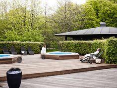 Spa #comwell #Korsør #spa #terrasse #spa #hottub #boblebad Outdoor Furniture Sets, Outdoor Decor, Landscape Art, Spa, Design, Home Decor, Water Pond, Decoration Home, Room Decor
