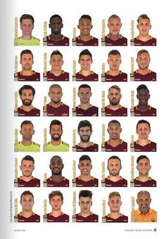 """asromaworld: """"As Roma 2016/17 (c: match program di Cagliari-Roma) """" Plantel 2016"""