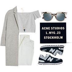 Untitled #449 by alaa-oo on Polyvore featuring Monki, Rochas, Paige Denim, New Balance, Acne Studios, Karen London and Fendi