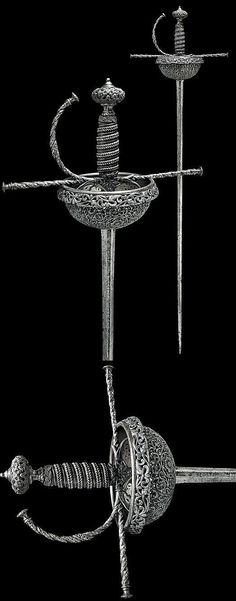 A beautiful cup-hilt rapier, Northern Italy, ca. middle of the 17th century.