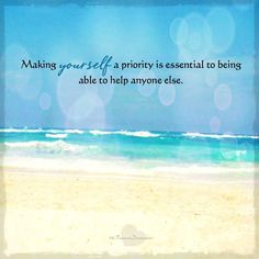 Make yourself a priority. #caregiving #takecare