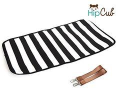 Diaper Bag by Hip Cub - Plus Matching Baby Changing Pad - Black ...