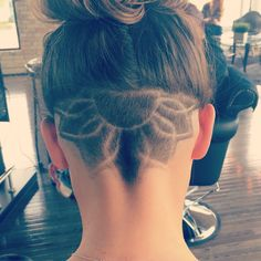 Floral undercut. This hidden hair style is great for thick long hair #undercut…
