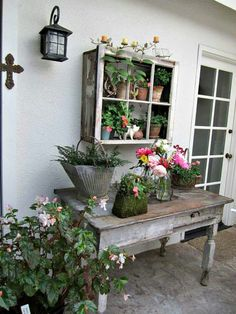 Window box and table