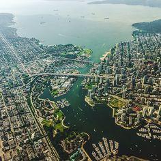 An aerial of Vancouver.    (photo: @ckristo)  #exploreBC #explorecanada
