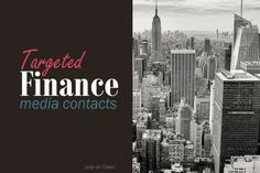 provide finance media contacts, by country, town by adavenue