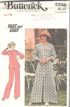 Butterick 4208 Misses Pullover Caftan Tunic Top and by mbchills