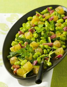 Fèves vertes façon risotto aux lardons I Foods, Food Inspiration, Entrees, Lunch, Vegetables, Summary, Cooking, Healthy, Cassoulet