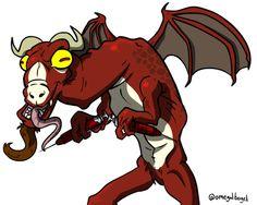 Jersey Devil from Paranoia Shoppe #omegalbagel #omegal #bagel #art #fanart #fan #toon #drawing #cartoon #jerseydevil #jersey #devil #paranoiashoppe #podcast