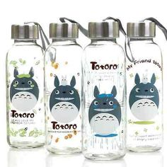 Studio Ghibli My Neighbor Totoro Water Drinks Glass Bottle Cup New Free Shipping