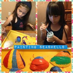 Painting Seashells is such a fun summer/beach activity. What would you make?