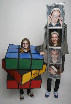 Three DIY Halloween costumes - Real Time - Diet, Exercise, Fitness, Finance You for Healthy articles ideas Purim Costumes, Fete Halloween, Homemade Halloween Costumes, Cute Costumes, Creative Halloween Costumes, Halloween Outfits, Group Costumes, Zombie Costumes, Halloween Couples