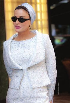 Sheikha Mozah looks beyond amazing in white Chanel couture.