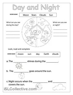 DAY AND NIGHT worksheet - Free ESL printable worksheets made by teachers