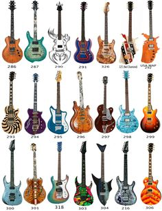 ELECTRIC GUITAR Card stock Cutouts For Hanging Or Wall Decor Rock Band Music Bir
