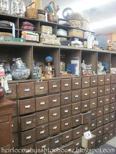 Love love love all these drawers......Heirlooms by Ashton House: DRAWERS OF DELIGHT