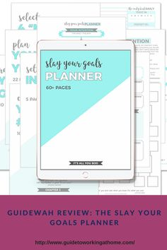 The Slay Your Goals Planner Goals Planner, Achieve Your Goals, Slay, Increase Productivity, How To Plan, Tips, Remote, Pilot, Counseling