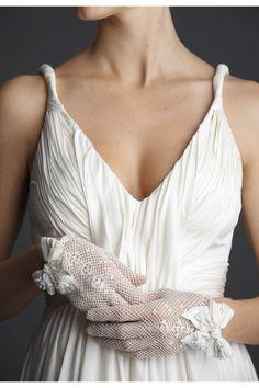 Seasonal Wedding Ideas: a-line, elegant, vneck, wedding dresses, white, gloves, lace, victorian, vintage , monogram, burlap, romantic , modern , glamorous , rustic