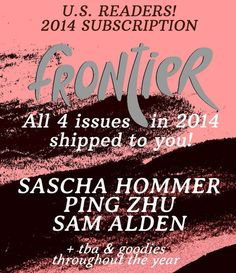 Youth In Decline's Frontier Magazine has become an impressive little art magazine showcasing various comics notables....Frontier #4: Ping Zhu: April/May 2014 -- A monograph featuring new work of Brooklyn illustrator Ping Zhu! Ping is an extremely talented and versatile illustrator with an astounding sense of color and figures, as well as the creator of Ugly Drawings Tumblr. Her illustrations and paintings have been seen in the New York Times, New Yorker, Pushkin Press, and Nobrow Press.