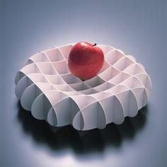 Grid Bowl by Ross McBride: Die cut polyethylene. http://tinyurl.com/4uhz9ax $69.60