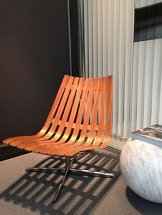 Skandia - Easy Chair designed by Hans Brattrud, Norway American walnut and produced by Fjordfiesta.