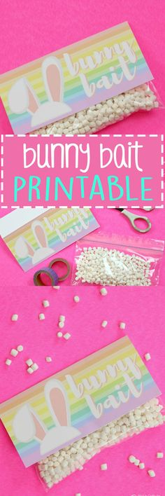 Get your kids excited for Easter by printing off this Bunny Bait Printable to make sure the Easter Bunny stops by your home! These treat bags are fun and simple to assemble so make enough for all your friends and family this Easter!