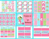 Spa Party Theme Personalized Birthday Party Package 58