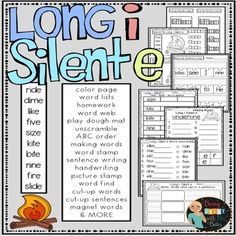 This phonics bundle is packed with hands-on activities that can be easily differentiated for your students! Included in this bundle: Long a Silent e Long i Silent e Long o Silent e Long u Silent e Fake Words, Long I Silent E, R Words List, Teaching Vowels, Word Web, Phonics Blends, Making Words, Consonant Blends, School