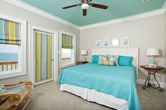 vaulted ceilings with curtains   contemporary bedroom by Greg Riegler Photography