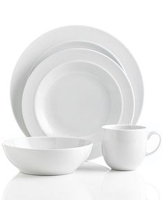 Making Life Easy Canopy Round White Porcelain Dinnerware