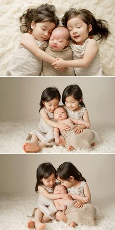 Adorable family session with newborn & twins