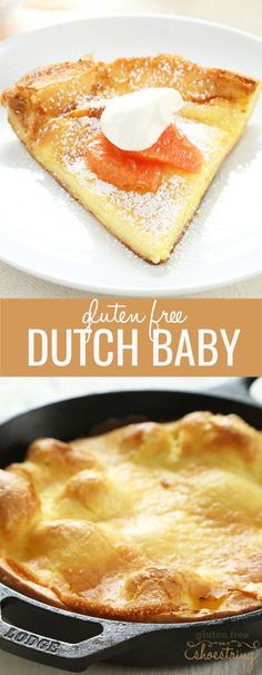 The perfect gluten free Dutch Baby (or German Pancake) is like a cross between a pancake and a popover. Ready in about 20 minutes!