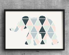 Palma dejar impresión diseño nórdico arte color de por Wallzilla
