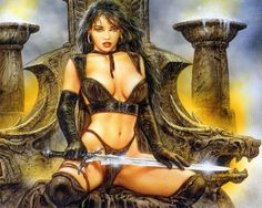 Image from fantasy and syfy.NSFW — maifrem: Luis Royo - Vertical to the Column I Fantasy Girl, Chica Fantasy, World Of Fantasy, Fantasy Women, Dark Fantasy, Betty Boop, Sexy Cartoons, Denis Zilber, Dark Paintings