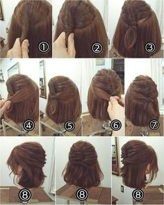 romantic hairstyles perfect for fall 3 Romantic Hairstyles, Work Hairstyles, Pretty Hairstyles, Wedding Hairstyles, Easy Hairstyle, Medium Hair Styles, Short Hair Styles, Hair Arrange, Pinterest Hair