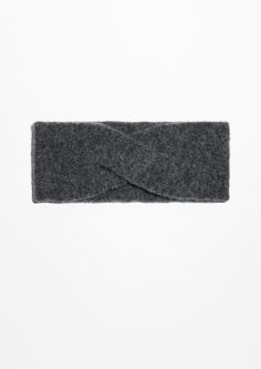 Other Stories Merino Wool Headband in Dark Grey