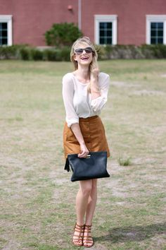 Suede Skirt | A Daydream Love