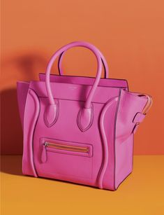handbag, designer, Celine, hot pink, color, fashion Love this bag!