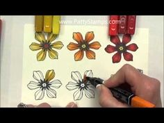 3 ways to color and shade stamped images with Blendabilities Markers from Stampin  Up. Video tutorial by Patty Bennett