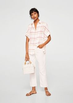 Discover the latest trends in Mango fashion, footwear and accessories. Mango Fashion, Roll Up Sleeves, Capsule Wardrobe, Shirt Outfit, Latest Fashion Trends, White Jeans, Cool Outfits, Men Casual, Dresses For Work