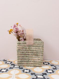The Tall Forage Basket is handwoven in Morocco using palm leaf in a sturdy open weave with a soft natural leather handle. A modern design, the rectangle basket is perfect for shopping trips or as decorative storage around the home. Bohemian Living, Hanging Baskets, Wicker Baskets, Bohemia Design, Alternative To Plastic Bags, Indoor Planters, Decorative Storage, Storage Baskets, Leather Handle