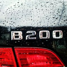 Raindrops, after rain. Mercedes Benz B200, Rain Drops, Neon Signs