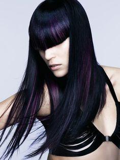 Purple Hair Highlights