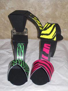 high heel paper shoe template | High Heel Shoe Favor Box