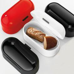 Farbe für die Küche! Brotkasten aus glänzendem Metall