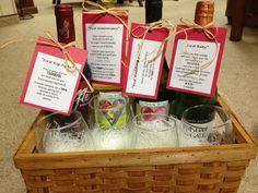 Bridal Shower Wine Gift Basket