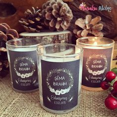 Mum düğün hediyesi / Candele wedding gift www.masalsiatolye.com #mum #candele