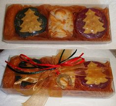 Golden Christmas Gift Set with Golden-Red by JoannasScentedSoaps