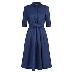 Buy Hobbs Savina Dress, Mid Blue Online at johnlewis.com