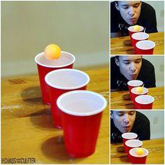 Jogos em familia - lago de copos